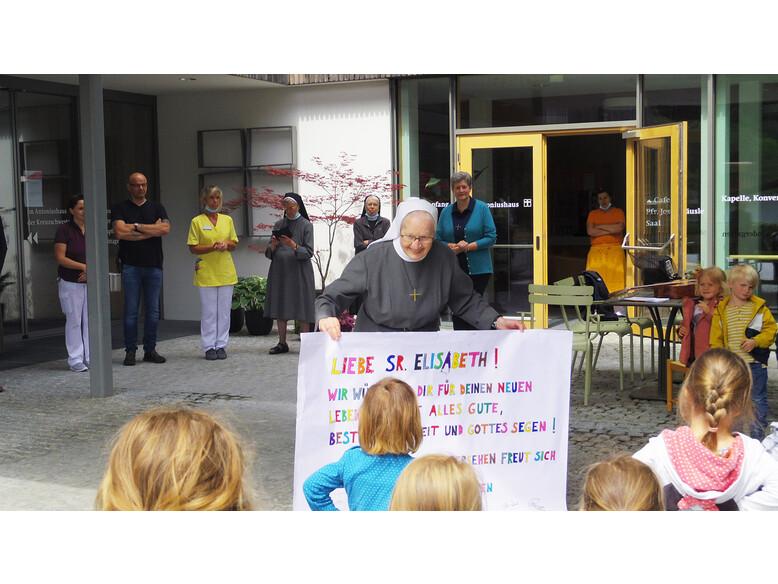 Verabschiedung von Sr. Elisabeth Heinzle vom Antoniushaus der Kreuzschwestern in Feldkirch